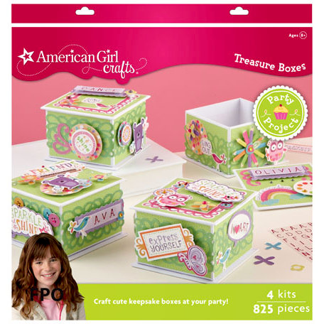 EK Success - American Girl Crafts - Party Collection - Activity Kit - Decorated Treasure Box
