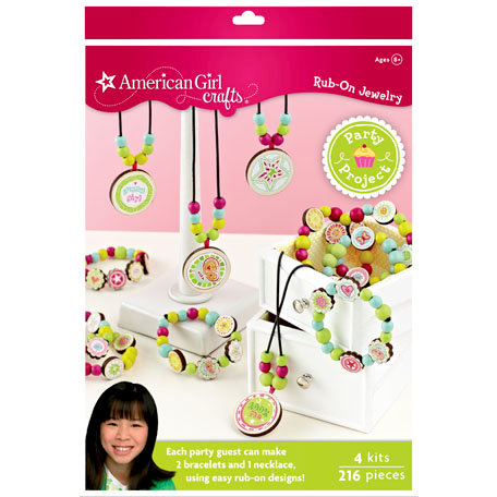 EK Success - American Girl Crafts - Party Collection - Activity Kit - Rub On Jewelry