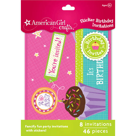 EK Success - American Girl Crafts - Party Collection - Invitations - Sticker Birthday