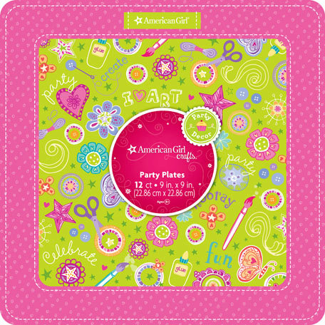 EK Success - American Girl Crafts - Party Collection - Dinner Plates