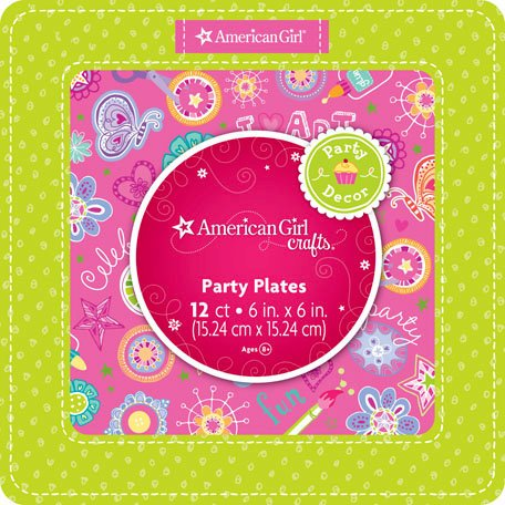 EK Success - American Girl Crafts - Party Collection - Dessert Plates