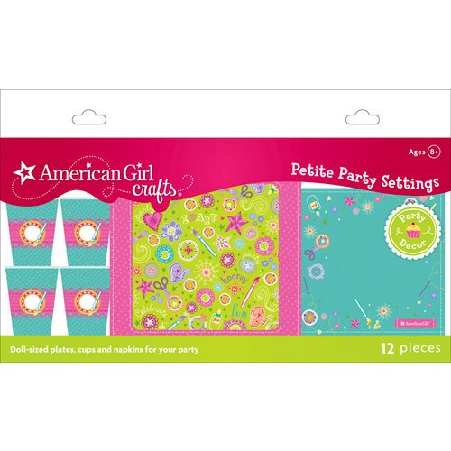 EK Success - American Girl Crafts - Party Collection - Doll Size Plates Cups and Napkins