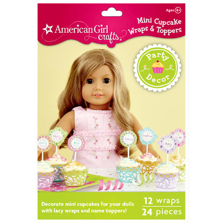 EK Success - American Girl Crafts - Party Collection - Mini Cupcake Wrappers and Picks