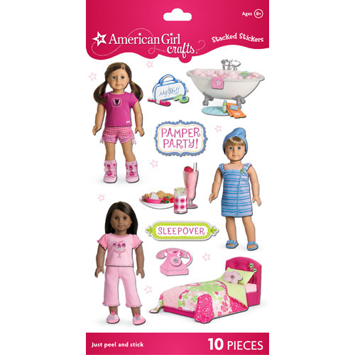 EK Success - American Girl Crafts - Stacked Stickers - My American Girl Doll Spa