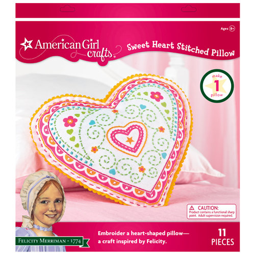 EK Success - American Girl Crafts - Embroidered Pillow Kit