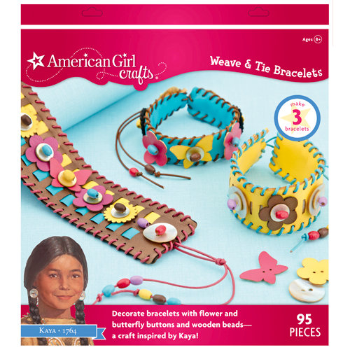 EK Success - American Girl Crafts - Weave and Tie Bracelets Kit