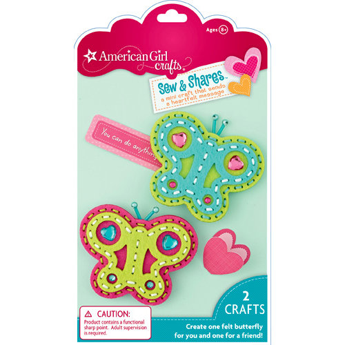 EK Success - American Girl Crafts - Sew and Shares Collection - Fabric Craft Kit - Butterflies