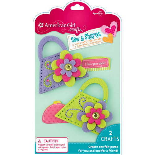 EK Success - American Girl Crafts - Sew and Shares Collection - Fabric Craft Kit - Purses
