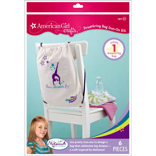 EK Success - American Girl Crafts - Drawstring Bag Iron-On Kit