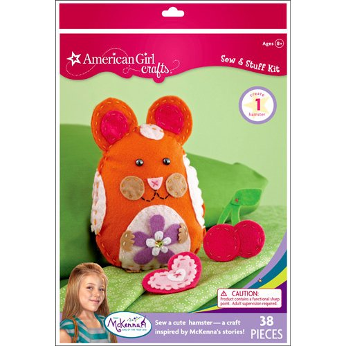 EK Success - American Girl Crafts - Sew and Stuff Kit - Hamster