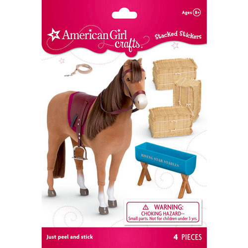 EK Success - American Girl Crafts - Stacked Stickers - Chestnut Horse