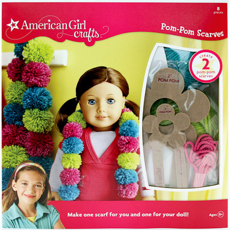 EK Success - American Girl Crafts - Pom Pom Scarves Kit