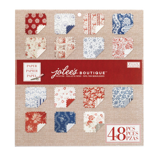 EK Success - Jolee's Boutique - French General Collection - 12 x 12 Paper Pad - Red