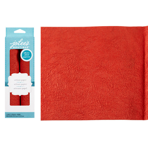EK Success - Jolee's Boutique - Adhesive Crinkle Paper - Red