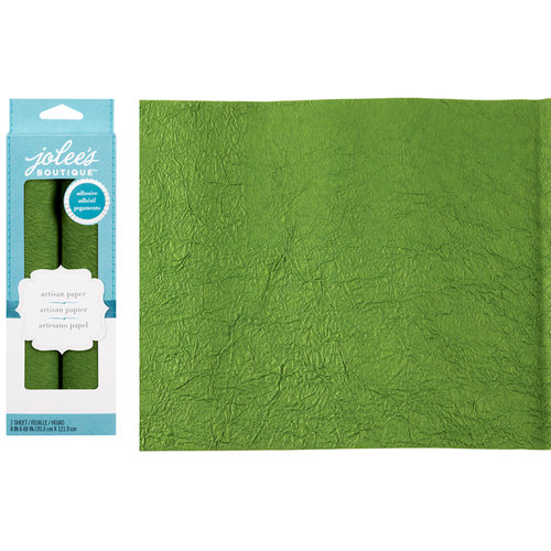 EK Success - Jolee's Boutique - Adhesive Crinkle Paper - Green