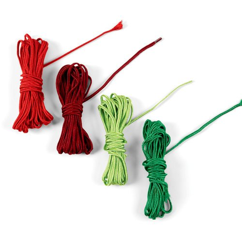 EK Success - Jolee's Boutique - Fabric Cord - Red and Green