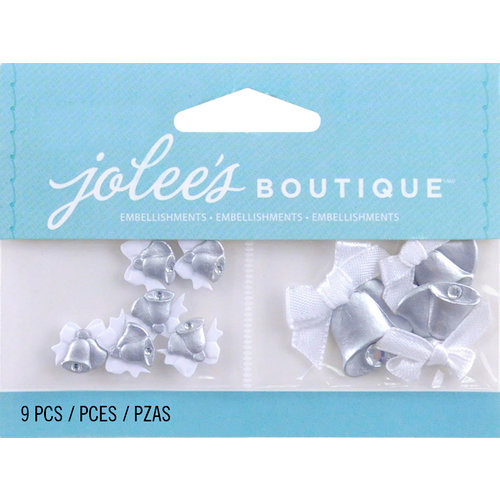 EK Success - Jolee's by You Redux - 3 Dimensional Embellishments with Gem Accents - Mini Wedding Bells