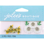 EK Success - Jolee's by You Redux - 3 Dimensional Embellishments with Gem Accents - Bumblebees and Daisies