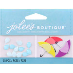 EK Success - Jolee's by You Redux - 3 Dimensional Embellishments - Raindrops and Umbrellas