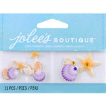 EK Success - Jolee's by You Redux - 3 Dimensional Embellishments with Gem Accents - Mini Seashells