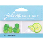 EK Success - Jolee's by You Redux - 3 Dimensional Embellishments with Epoxy and Gem Accents - Limes