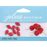 EK Success - Jolee's by You Redux - 3 Dimensional Embellishments with Epoxy Accents - Strawberries and Cherries