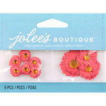 EK Success - Jolee's by You Redux - 3 Dimensional Embellishments with Gem Accents - Orange Poppies