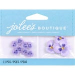 EK Success - Jolee's by You Redux - 3 Dimensional Embellishments with Gem Accents - Purple Pansies