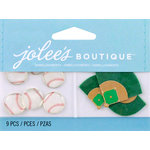 EK Success - Jolee's by You Redux - 3 Dimensional Embellishments with Epoxy Accents - Baseballs