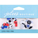 EK Success - Jolee's by You Redux - 3 Dimensional Embellishments - Soccer Balls and Whistles