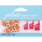 EK Success - Jolee's by You Redux - 3 Dimensional Embellishments - Footballs and Foam Fingers
