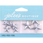 EK Success - Jolee's by You Redux - 3 Dimensional Embellishments - Silver Vintage Stars