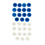 EK Success - Jolee's Boutique - Button Assortment - Blue and White