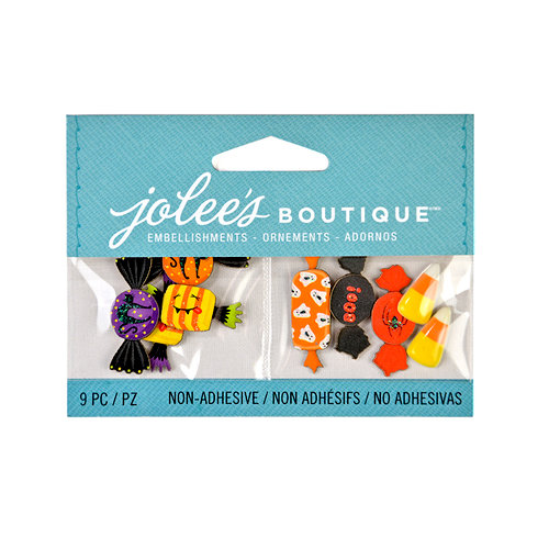 EK Success - Jolee's Boutique - 3D Embellishments with Glitter Accents - Mini Halloween Candy