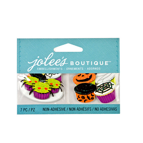 EK Success - Jolee's Boutique - 3D Embellishments Glitter - Mini Halloween Cupcakes
