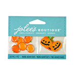EK Success - Jolee's Boutique - Halloween - 3D Embellishments with Epoxy and Glitter Accents - Jack O Lanterns and Pumpkins