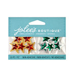EK Success - Jolee's Boutique - 3D Embellishments with Foil and Gem Accents - Mini Christmas Stars