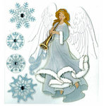 EK Success - Jolee's Boutique - Christmas - 3 Dimensional Stickers with Glitter and Gem Accents - Winter Angel