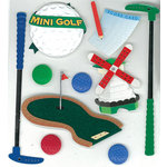 EK Success - Jolee's Boutique - 3 Dimensional Stickers - Mini Golf, CLEARANCE