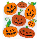 EK Success - Jolee's Boutique - Halloween - 3 Dimensional Stickers - Funny Pumpkins