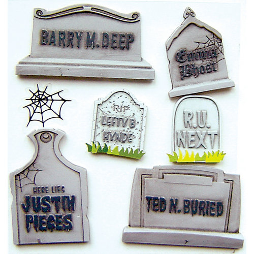 EK Success - Jolee's Boutique - Halloween - 3 Dimensional Stickers - Funny Gravestones
