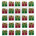 EK Success - Jolee's Boutique - Christmas - 3 Dimensional Stickers with Glitter and Gem Accents - Christmas Presents, CLEARANCE