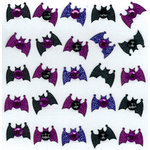 EK Success - Jolee's Boutique - Halloween - 3 Dimensional Stickers with Glitter and Gem Accents - Cute Bats