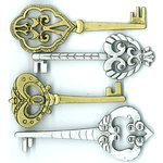 EK Success - Jolee's Boutique - Parcel Refresh Collection - 3 Dimensional Stickers with Gem Accents - Victorian Keys