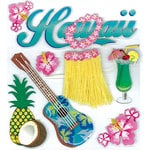 EK Success - Jolee's Boutique - 3 Dimensional Stickers with Epoxy Glitter and Varnish Accents - Hawaii