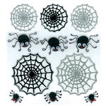EK Success - Jolee's Boutique - Halloween - 3 Dimensional Stickers with Glitter Accents - Cute Spiders and Webs