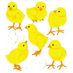 EK Success - Jolee's Boutique - Easter - 3 Dimensional Stickers with Fuzzy Accents - Baby Chicks