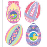 EK Success - Jolee's Boutique - Parcel Collection - Easter - 3 Dimensional Stickers - Ribbon Easter Eggs