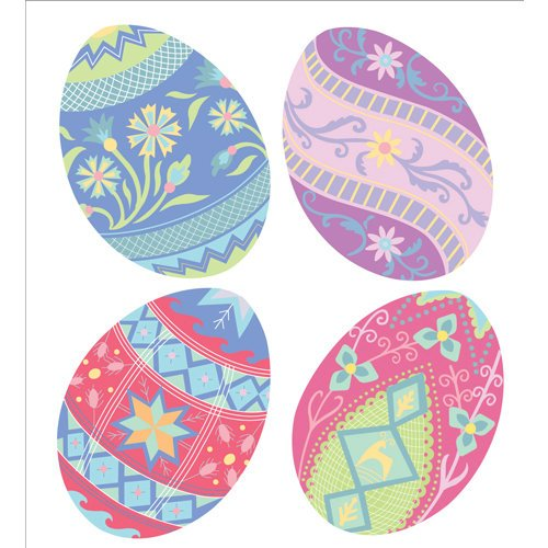EK Success - Jolee's Boutique - Parcel Collection - Easter - 3 Dimensional Stickers with Gem and Glitter Accents - Ukrainian Eggs
