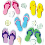 EK Success - Jolee's Boutique - 3 Dimensional Stickers with Epoxy Accents - Flip Flop Repeats